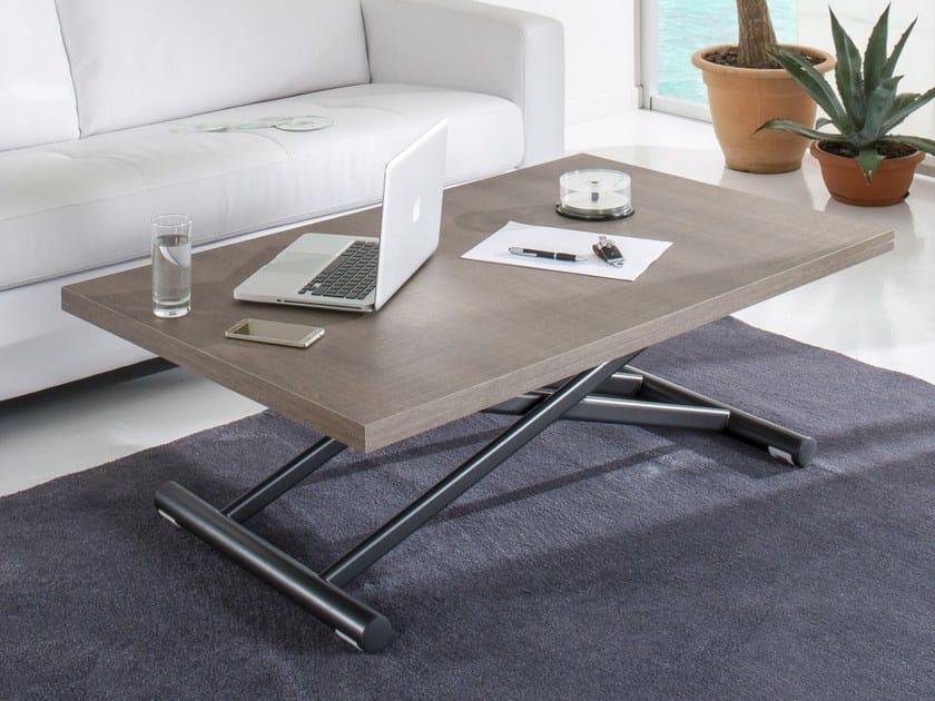 Tavolino ad altezza regolabile da caffè rettangolare UP ...