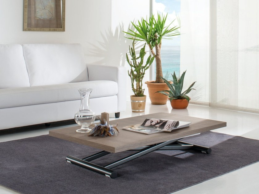 Height-adjustable rectangular coffee table UP & DOWN by IDEAS Group