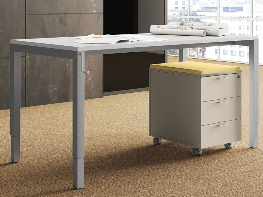 Height Adjustable Sectional Rectangular Office Desk UP | Height Adjustable  Office Desk By Las