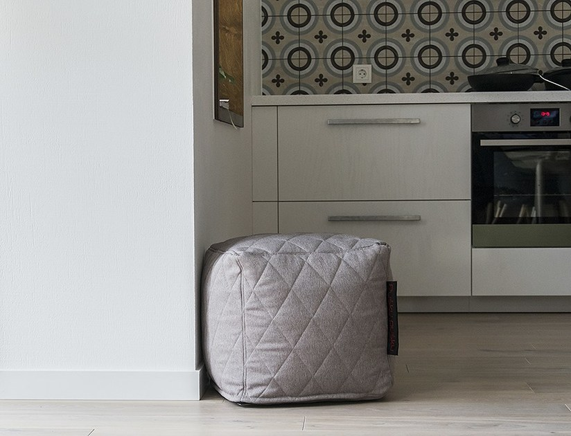 Pouf sacco in tessuto UP! QUILTED NORDIC by Pusku pusku