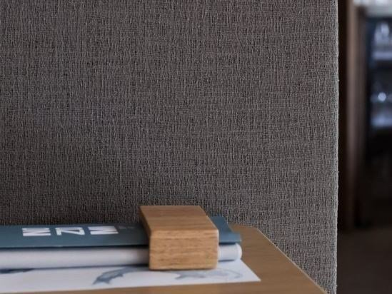 Solid-color wall fabric UP-SWING by Equipo DRT