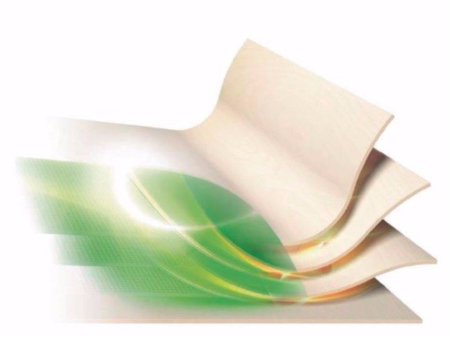 Trunk, slice, special format of raw wood UPM Grada® by LEGNOPAN