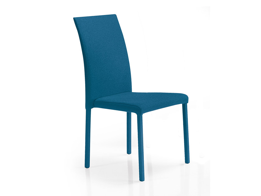Upholstered stackable chair UPPER by Oliver B.