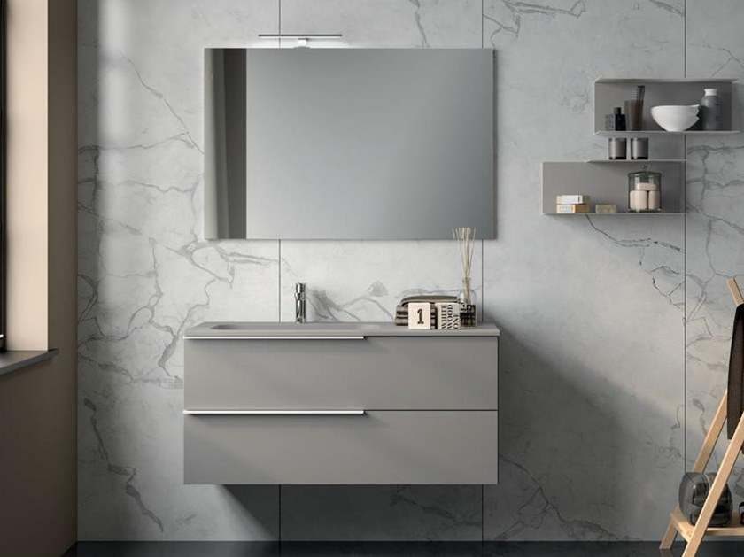 Lacquered vanity unit with drawers UR24 | Vanity unit by Mobiltesino