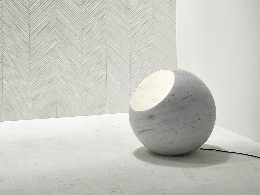 Carrara marble floor lamp URANO | Floor lamp by SALVATORI