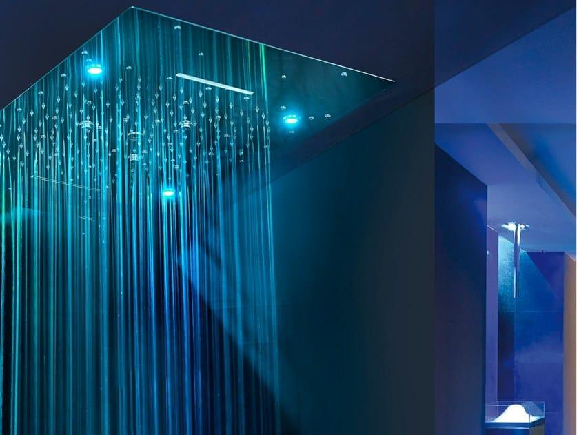Soffione Doccia Led Offerte.Urano Soffione Doccia Con Cromoterapia By Ama Luxury Shower