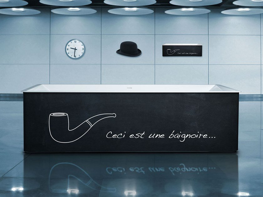 Freestanding rectangular bathtub URBAIN | Freestanding bathtub by Aquadesign Studio