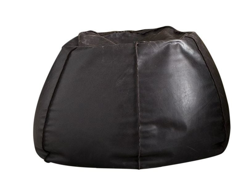 Round leather bean bag pouf URBAN by Chaarme Letti