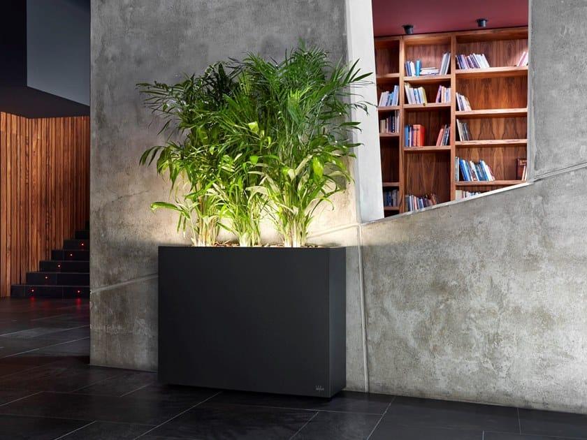 Rectangular steel plant pot with light URBAN LIGHT by Hobby Flower