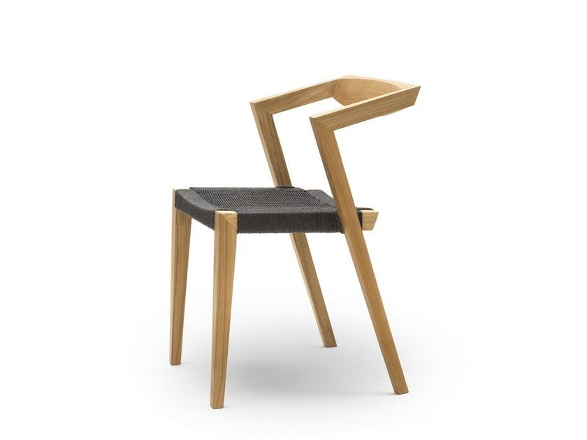 Sedia in teak con schienale aperto URBAN LOOM by Feelgood Designs