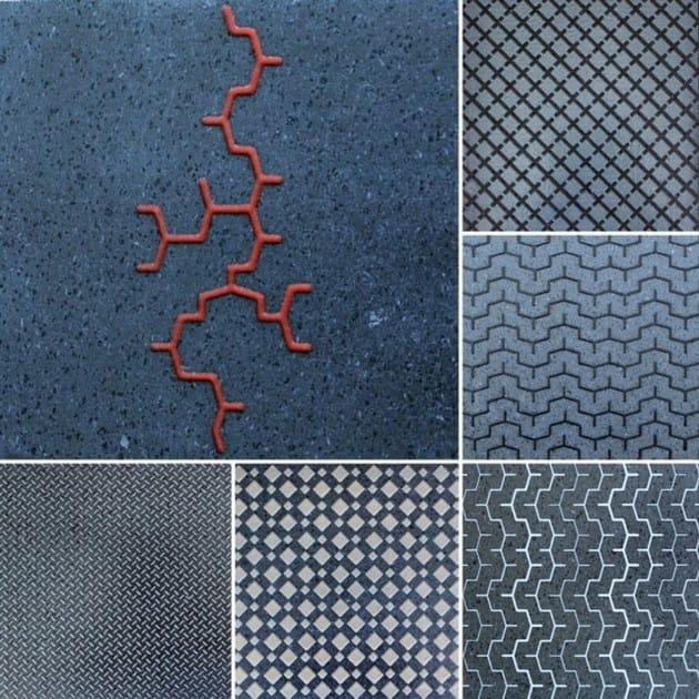 Lava stone wall tiles / flooring URBAN TILE by Sgarlata