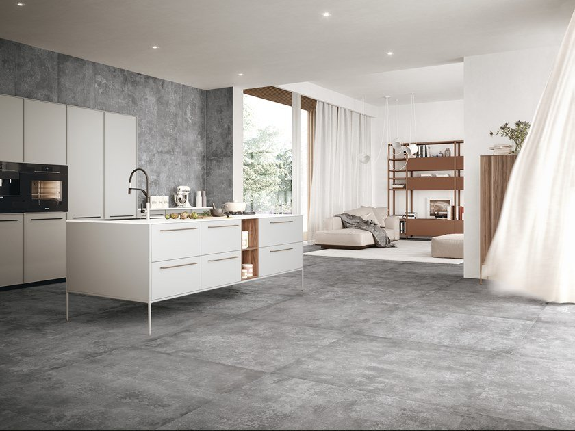 Porcelain stoneware wall/floor tiles with concrete effect URBEX STYLE by Ceramiche Refin