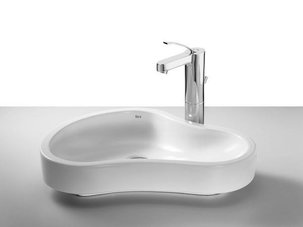 Countertop washbasin URBI 8 by ROCA SANITARIO