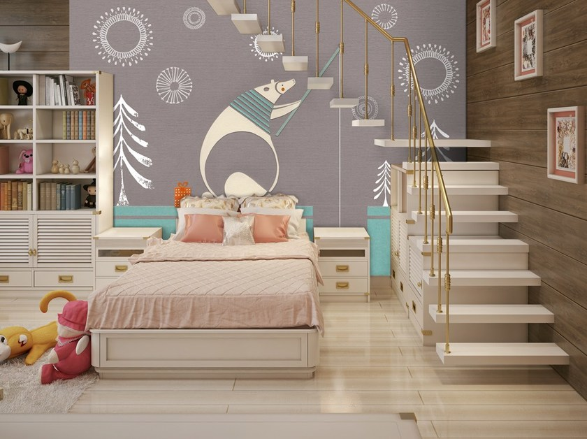 Nonwoven kids wallpaper URSIDE by MyCollection.it