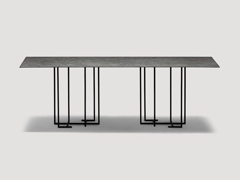 Tavolo da pranzo rettangolare in metallo URUSHI | Tavolo rettangolare by da a