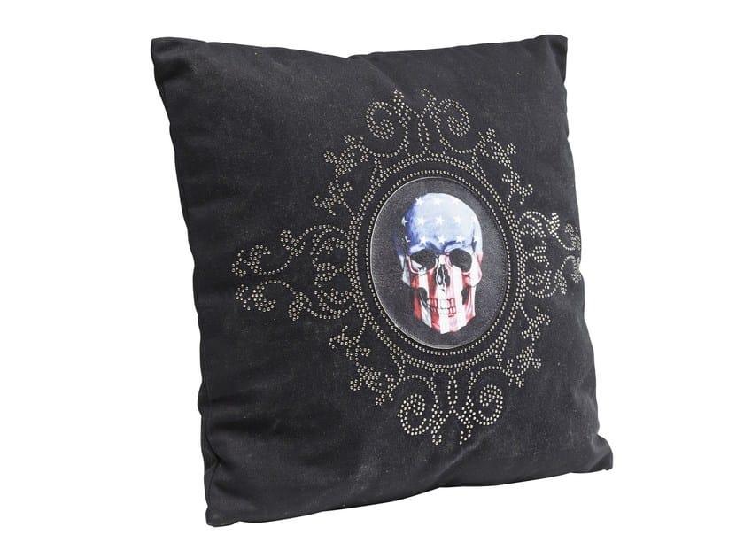Square cushion USA SKULL 45x45 by KARE-DESIGN