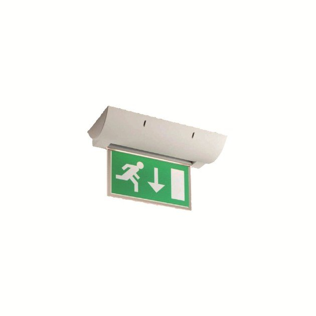Ceiling-mounted emergency light for signage INLUX ITALIA - USCITA 1 by NEXO LUCE
