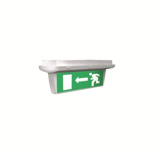 Ceiling-mounted emergency light for signage INLUX ITALIA - USCITA 2 by NEXO LUCE