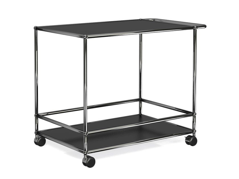 Metal Drinks Trolley USM HALLER SERVING CART FOR DINING ROOM By USM
