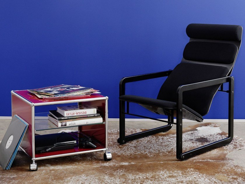 Carbon side table USM HALLER SIDE TABLE | Carbon coffee table by USM