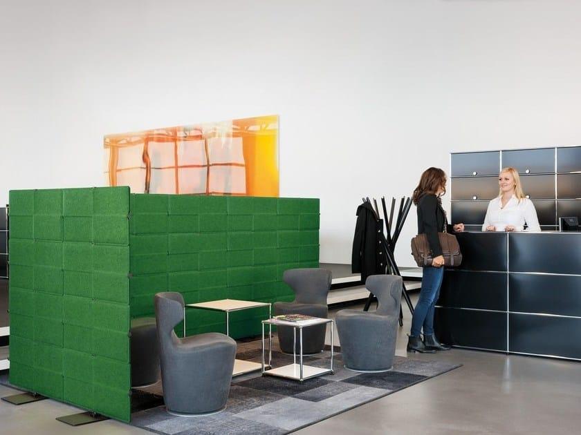 Schallabsorbierende Schreibtisch-Trennwand aus Polyester USM PRIVACY ...