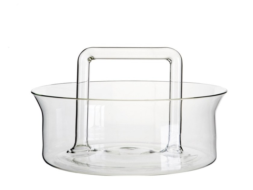 Borosilicate glass fruit bowl UTILES | Fruit bowl by Secondome Edizioni
