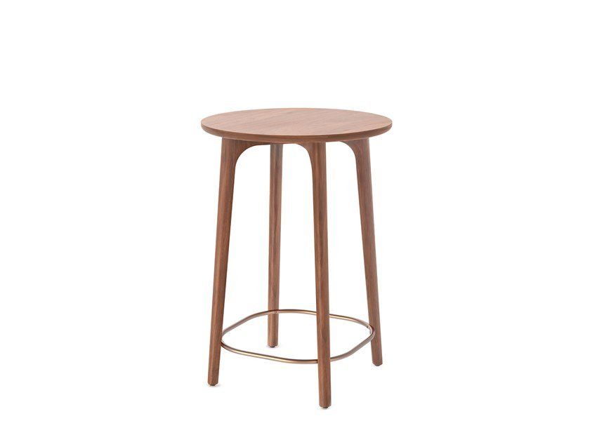 Round wooden high side table UTILITY CAFÉ TABLE H900 by STELLAR WORKS
