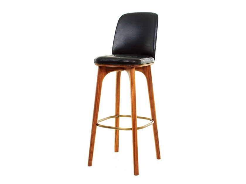 Wooden restaurant chair with footrest UTILITY HIGH CHAIR SH760 by STELLAR WORKS