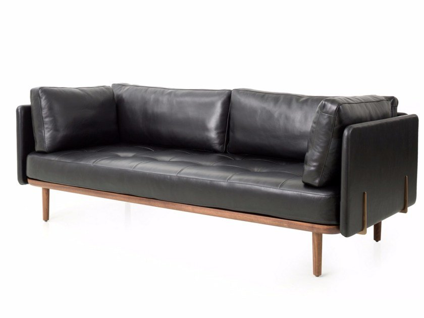 3 Seater Leather Sofa Utility Three Sides By Stellar Works