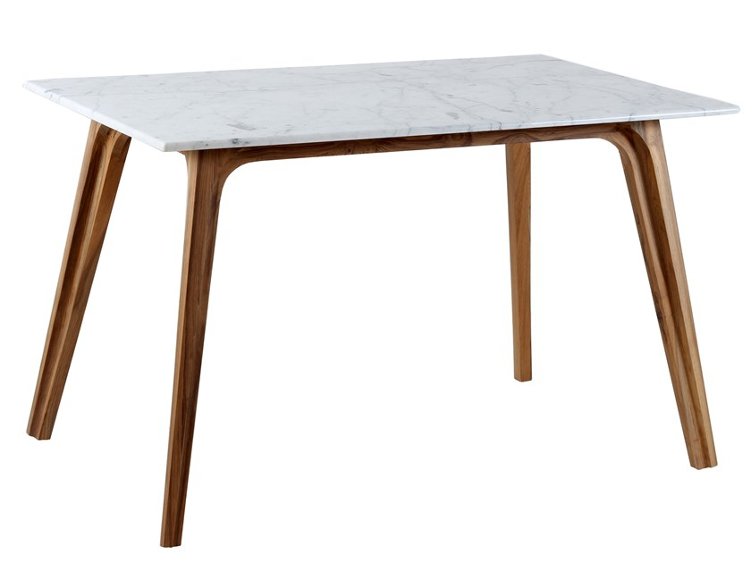 Rectangular teak table UVALA by ALANKARAM