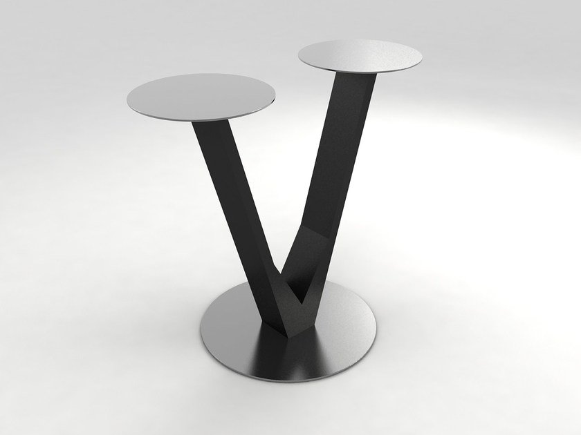 Round wooden coffee table UVE by Lamalva