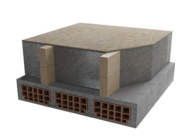 Thermal insulation panel Under-tile systems by Naturalia BAU