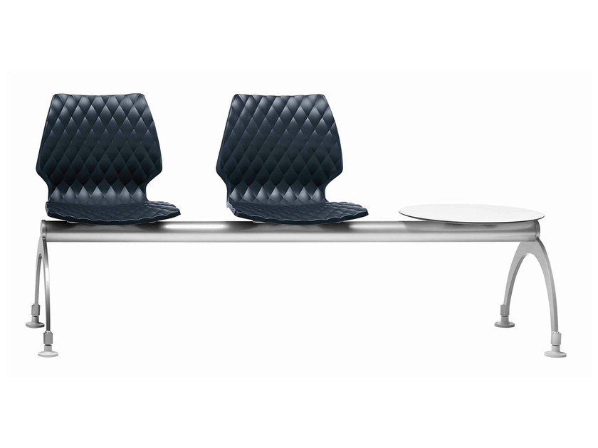Polypropylene beam seating Uni 220 by Metalmobil