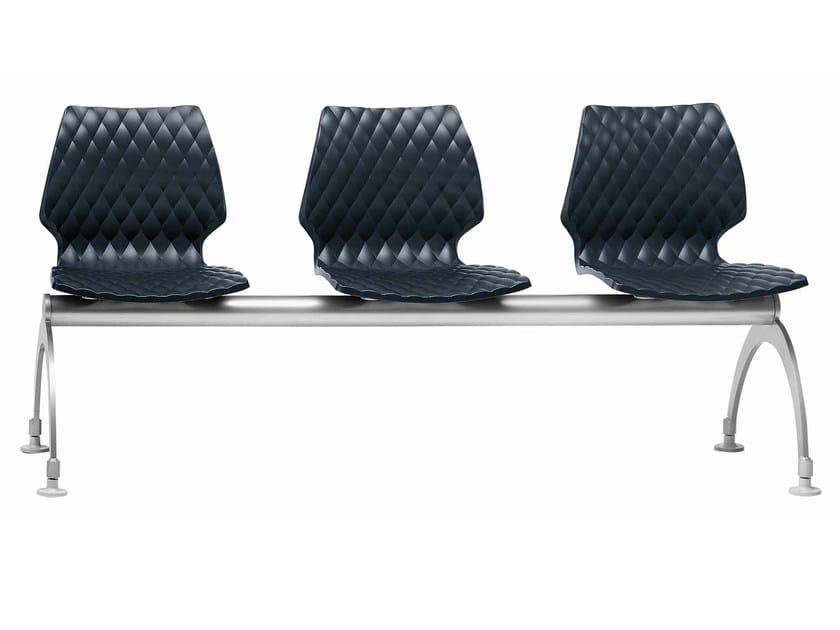 Polypropylene beam seating Uni 221 by Metalmobil