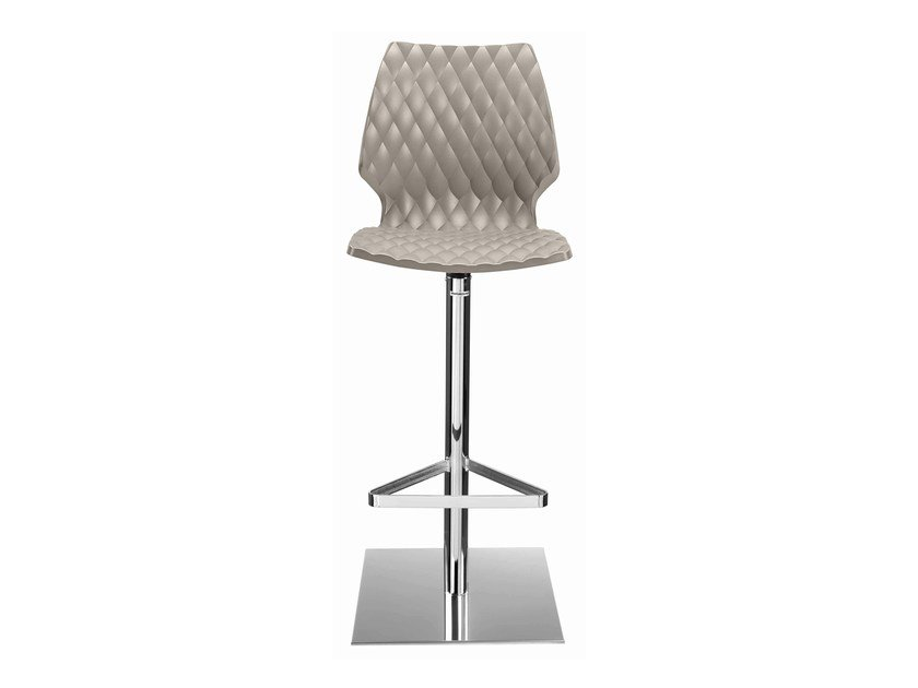 Swivel plastic barstool with footrest Uni 380 by Metalmobil