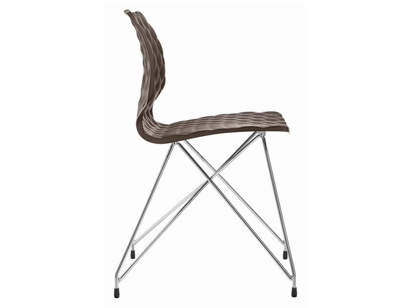Polypropylene restaurant chair Uni 553 by Metalmobil