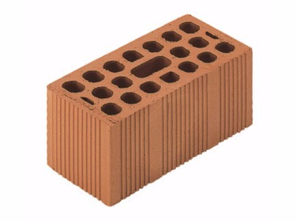 Clay building block / External masonry clay block Uni Double 12x25x12 by Wienerberger