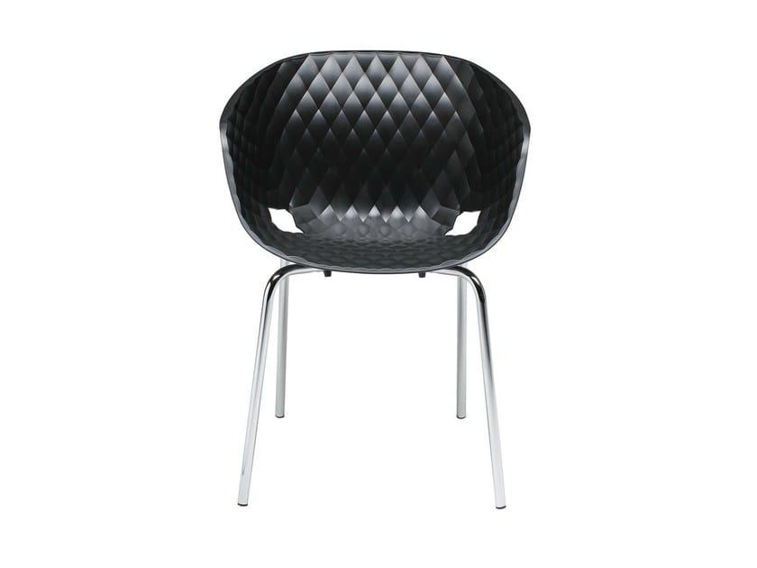 Stackable polypropylene chair Uni-Ka 594 by Metalmobil