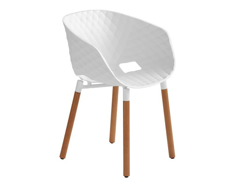 Polypropylene restaurant chair Uni-Ka 601 by Metalmobil