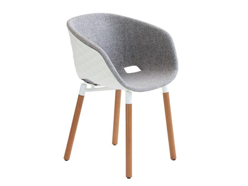 Polypropylene restaurant chair Uni-Ka 601M by Metalmobil