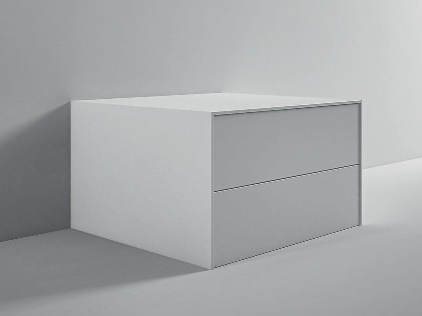 Floorstanding Corian® bathroom cabinet with drawers UNICO | Unit for ...
