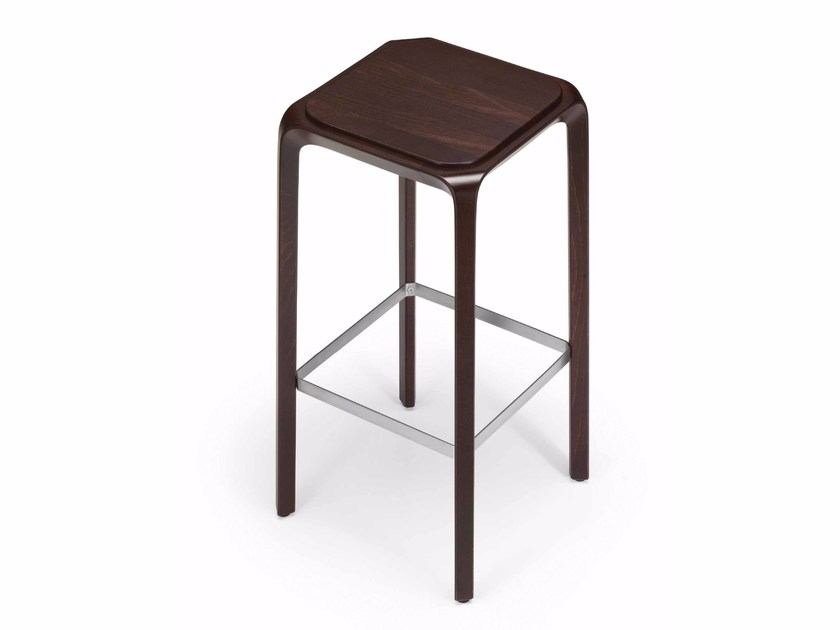 High solid wood stool URBINO 387 | Stool by Metalmobil