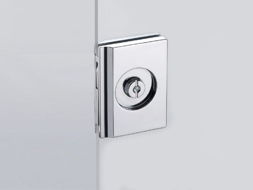 Sliding door lock V-404 by Metalglas Bonomi