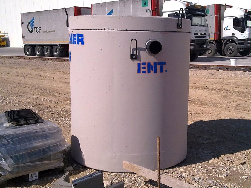 Sewage collection tank V.R.F. | Mud collecting container by Pircher