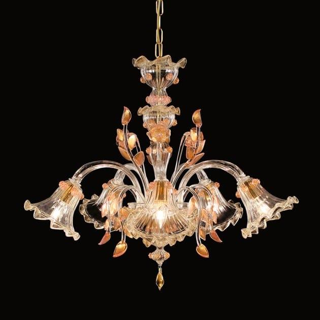 Classic style handmade glass chandelier V-STAR | Murano glass chandelier by MULTIFORME