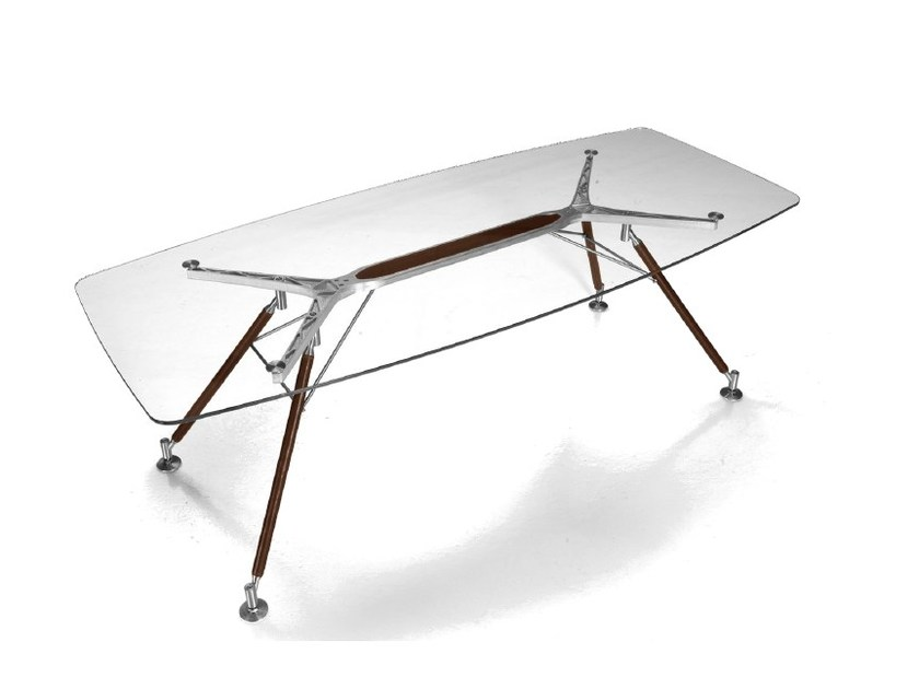 Rectangular glass and aluminium living room table V008 | Table by Aston Martin