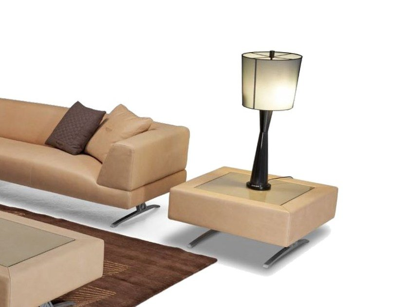 Square leather coffee table for living room V013 | Coffee table by Aston Martin