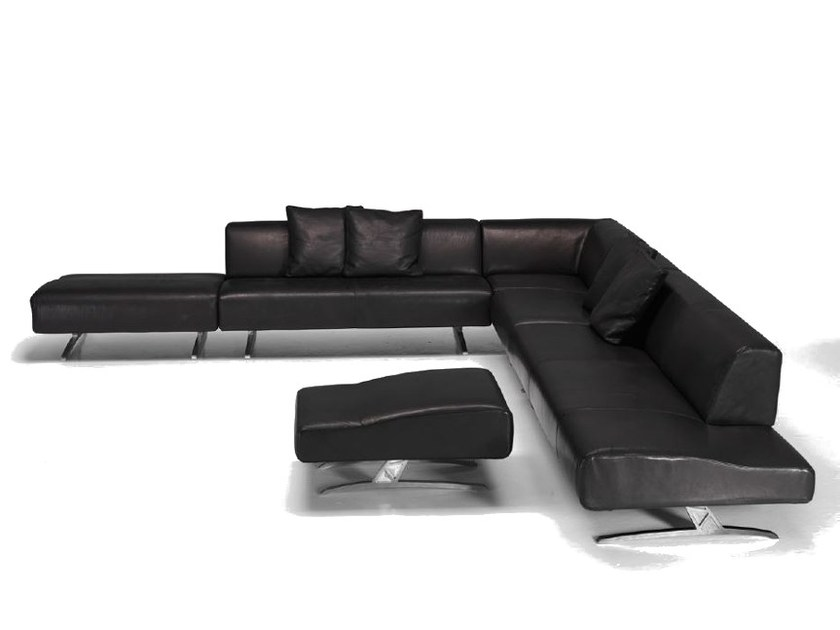 Corner sectional upholstered leather sofa V013 | Sectional sofa by Aston Martin