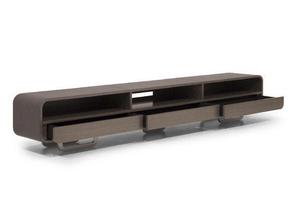 Low leather TV cabinet V020/A | TV cabinet by Aston Martin