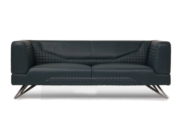 Upholstered 2 Seater Leather Sofa V098 By Aston Martin